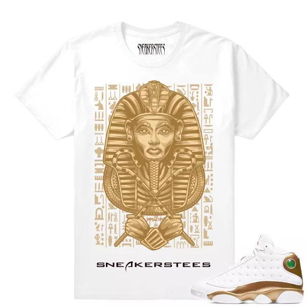 match air jordan 13 dmp dxpe gods pharoah white t shirt  dha